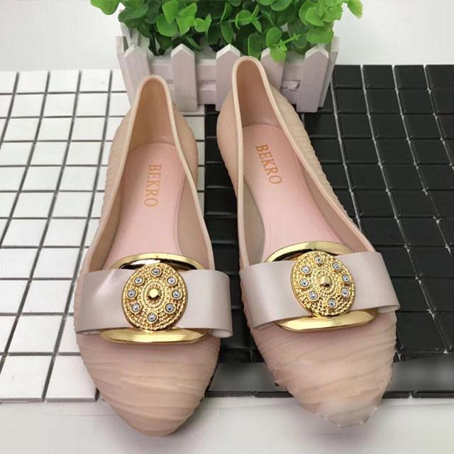 [현재분류명],180822BOSUK-3013 러블리 버클 플랫 젤리슈즈 WD,여성샌들,젤리슈즈,비치샌들,여름신발,신발선물