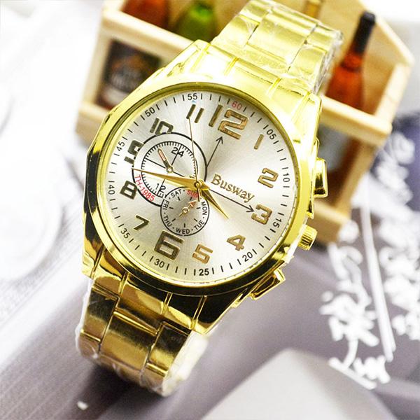 [현재분류명],빅 다이얼 골드스틸 손목시계-화이트골드 WD,손목시계,메탈시계,남성시계,시계선물,예쁜시계