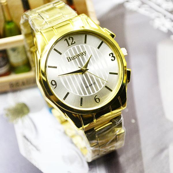 [현재분류명],스트라이프 다이얼 패션 시계-화이트골드 WD,손목시계,메탈시계,남성시계,시계선물,예쁜시계