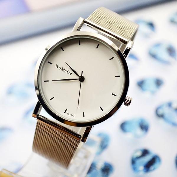 [현재분류명],논다디얼 디자인 손목시계-화이트 WD,손목시계,예쁜시계,시계선물,메탈시계,기념일선물