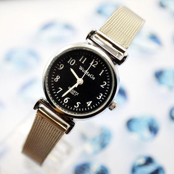 [현재분류명],스틸 메쉬 여성 손목시계WD,손목시계,여성시계,메탈시계,예쁜시계,시계선물