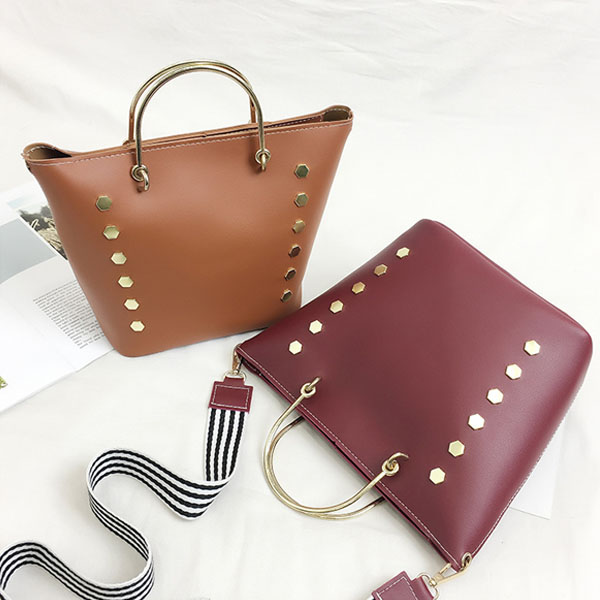 [현재분류명],180822BOSUK-2991 육각 금장 리벳 가방 WD,여성가방,숄더가방,패션가방,여성핸드백,가방선물